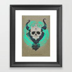 A KING IN DEATH Framed Art Print