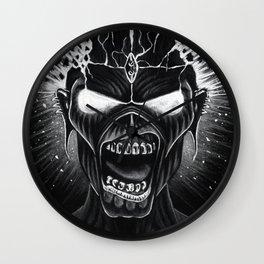 iron maiden album 2021 dede16 Wall Clock