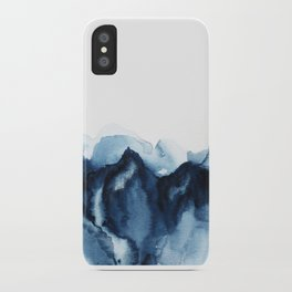 Abstract Indigo Mountains iPhone Case