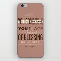 bible verses iPhone & iPod Skins featuring Psalm 139:5 Bible Verses by Tony D'Amico