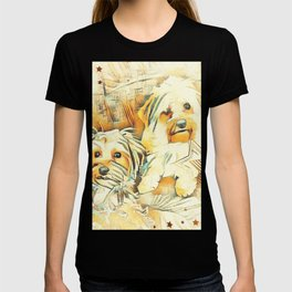 Penny and Copper Yorkie Mixes T-shirt