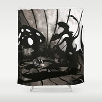 fear Shower Curtains featuring Fear by Antony Risi