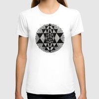 chakra T-shirts featuring Sri Chakra by BW DUGAN