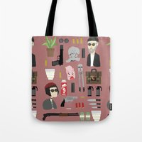 leon Tote Bags featuring Leon  by Max the Kid