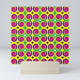 Swirly Pattern 1 Mini Art Print
