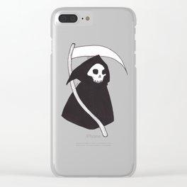 Grim Reaper Clear iPhone Case