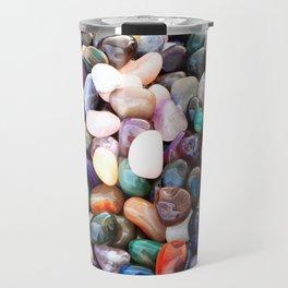 Polished Coloured Gemstones Travel Mug