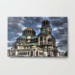 Alexander Nevski Cathedral , Sofia , Bulgaria- HDR photo Metal Print