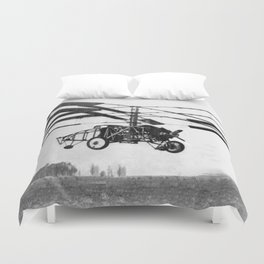 Helicopter Invention Duvet Cover