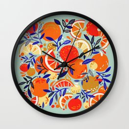 Fresh Citrus Mesh – Mint Wall Clock