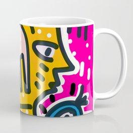 Yellow Man Graffiti Street Art and Pink Coffee Mug