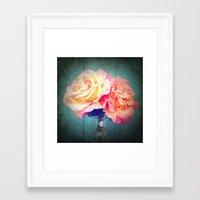 vintage flowers Framed Art Prints featuring Vintage Flowers by 2sweet4words Designs