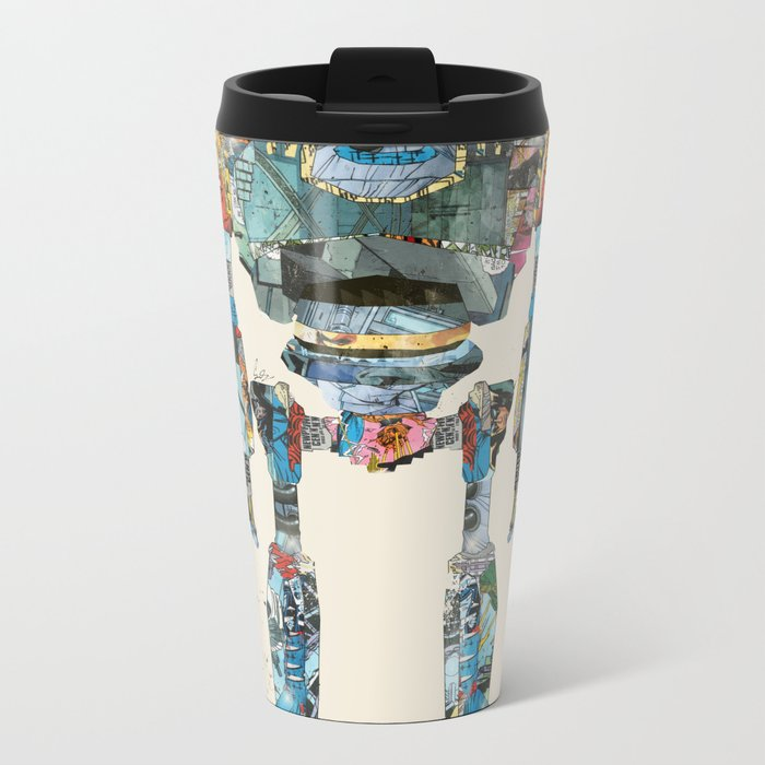 modern iron giant Metal Travel Mug