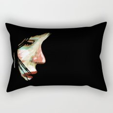 Shy Girl Rectangular Pillow