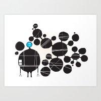 robot Art Prints featuring robot by alex eben meyer