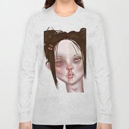 u think she looks bad? well u should see the other guy... Long Sleeve T-shirt