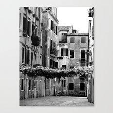 Vines across Venetian street Canvas Print