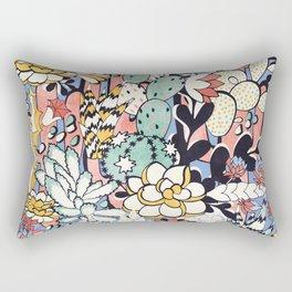 Blue Sky Succulents Rectangular Pillow