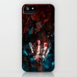 Cosmic Grunge Imprints iPhone Case