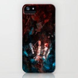 Cosmic Grunge Imprints iPhone Case