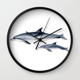 Atlantic spotted dolphin Wall Clock
