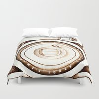 cheese Duvet Covers featuring Say Cheese by Xchange Art Studio