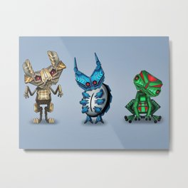 Robo Critters Metal Print