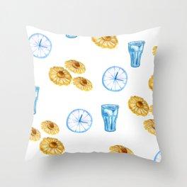 Lazy Sunday morning Throw Pillow