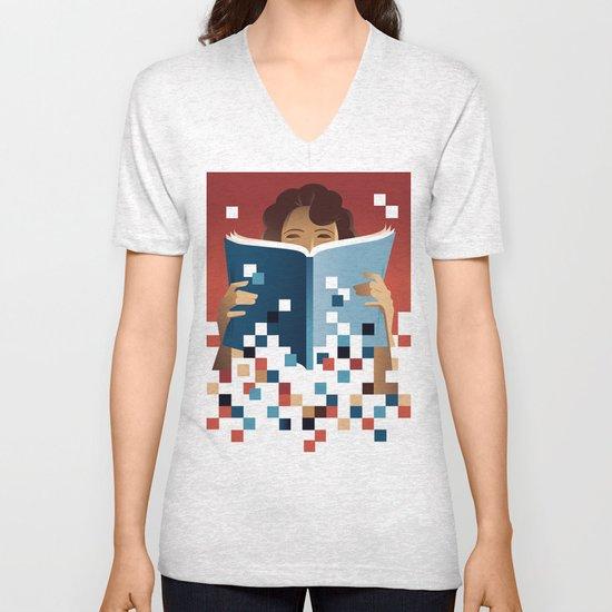Print to Pixels Unisex V-Neck