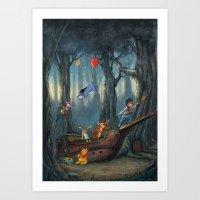 winnie the pooh Art Prints featuring Winnie the Pooh by muratturan