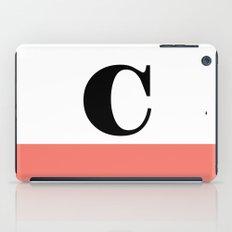 Monogram Letter C-Pantone-Peach Echo iPad Case