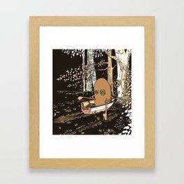 Forest Rowing Framed Art Print