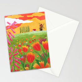 Flowers field Stationery Cards