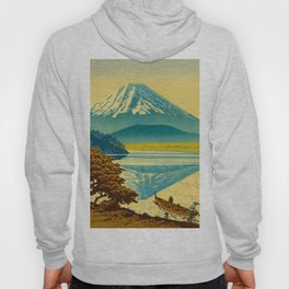 Japanese Woodblock Print Vintage Asian Art Colorful woodblock prints Mount Fuji Hoody