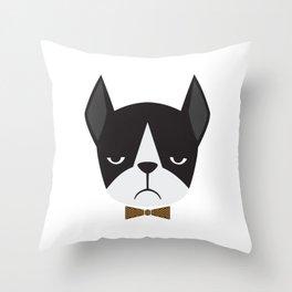 Dapper Boston Terrier Throw Pillow
