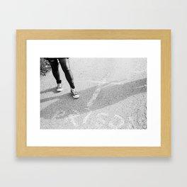 Faceless Rebel Framed Art Print