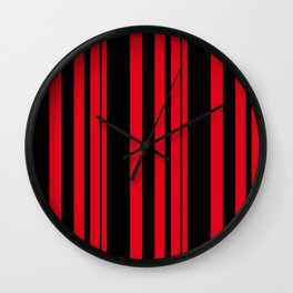 Black and red striped . Wall Clock