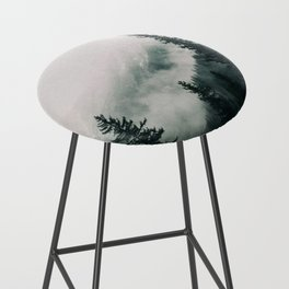 Over the Mountains and trough the Woods -  Forest Nature Photography Bar Stool