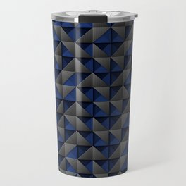 Tech Mosaic Blue Travel Mug