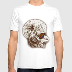 Funky sheep MEDIUM Mens Fitted Tee White
