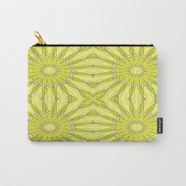 Yellow Pinwheel Flower Carry-All Pouch