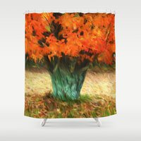 van gogh Shower Curtains featuring Van Gogh Autumn by ThePhotoGuyDarren