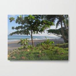 Vibrant Beach Green Metal Print