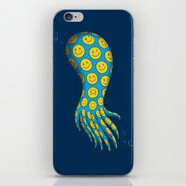 The deceitful smiley face octopus iPhone Skin