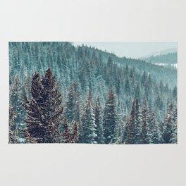 Winter Wonderland Forest (Color) Rug