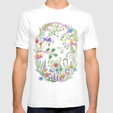 Bucolic forest White Mens Fitted Tee MEDIUM