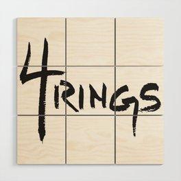 4 Rings Brush Wood Wall Art