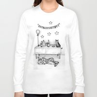 depression Long Sleeve T-shirts featuring Depression Party by Panic Volkushka