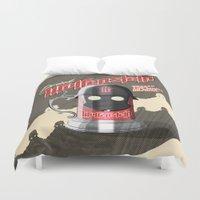 drink Duvet Covers featuring Drink Wolfenstein by Geekleetist