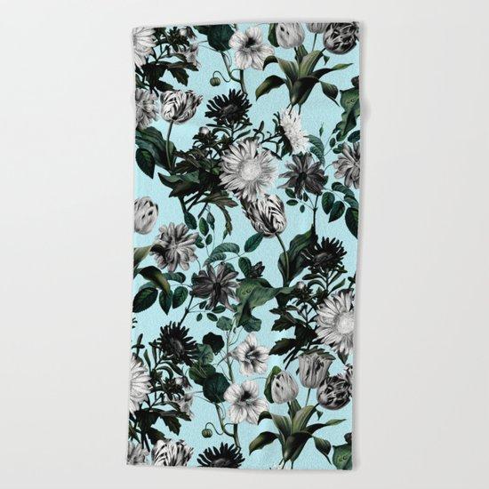 Summer Botanical Garden Beach Towel